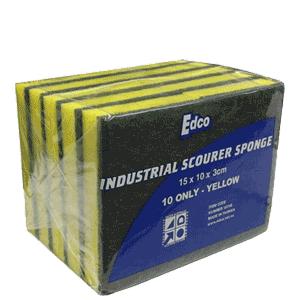 Edco Scourer Sponge Industrial 15x10cm Kenney